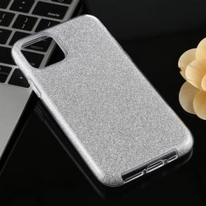Full Coverage TPU + PC Glittery Powder Protective Back Case for iPhone 11 Pro(Silver)