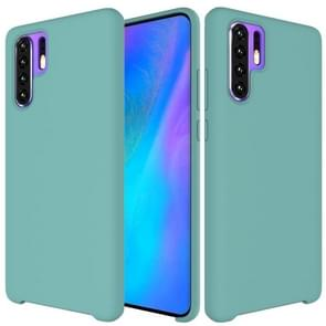 Solid Color Liquid Silicone Shockproof Coverage Case For Huawei P30 Pro(Blue)
