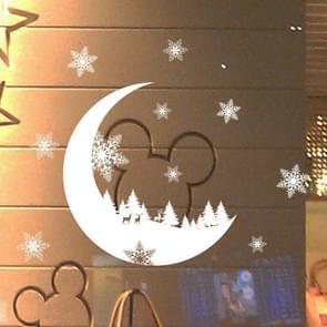 Venster glasdeur verwisselbare statische elektriciteit kerst muur sticker Decoretion (maan)