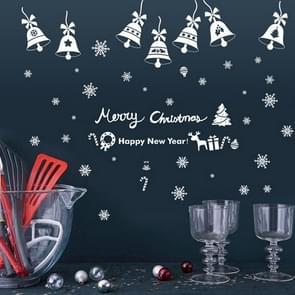 Window Glass Door Removable Static Electricity Christmas Wall Sticker Decoretion(Jingling Bell)