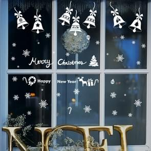 Creative Window Glass Door Removable Christmas Festival Wall Sticker Decoretion(Bell)