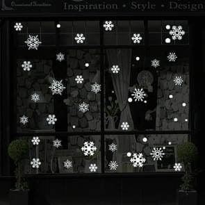 Creative Window Glass Door Removable Christmas Festival Wall Sticker Decoretion(Snowflake)
