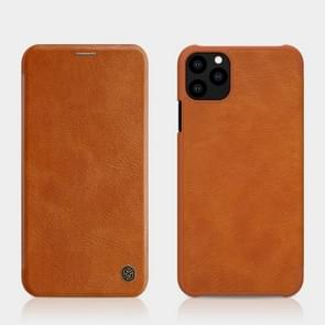 NILLKIN QIN Series Crazy Horse Texture Horizontal Flip Leather Case with Card Slot for iPhone 11 (5.8 inch)(Brown)
