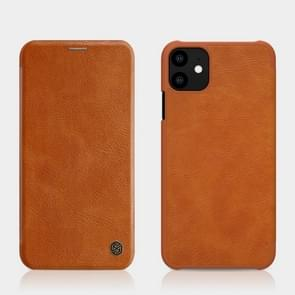 NILLKIN QIN Series Crazy Horse Texture Horizontal Flip Leather Case with Card Slot for iPhone 11 (6.1 inch)(Brown)
