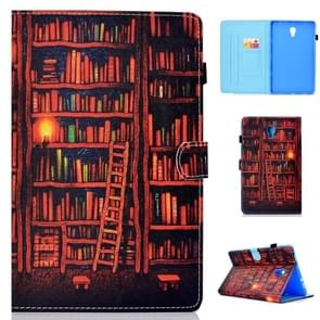 for Galaxy Tab A 10.5 T590 Colored Drawing Stitching Horizontal Flip Leather Case, with Holder & Card Slots(Bookshelf)