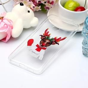 For Xiaomi Redmi Note 7 Coloured Drawing Pattern IMD Workmanship Soft TPU Protective Case(Glove Deer)