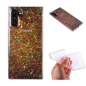 Voor Galaxy Note 10 glitter poeder Soft TPU beschermhoes (kleur)
