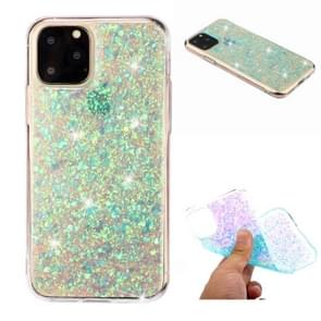 For iPhone 11 Pro (5.8 inch) Glitter Powder Soft TPU Protective Case(Green)