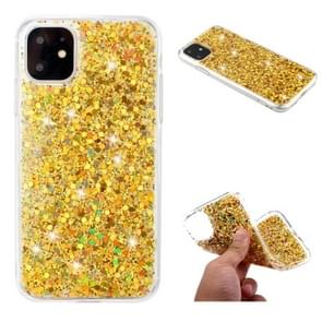 For iPhone 11 Glitter Powder Soft TPU Protective Case(Gold)