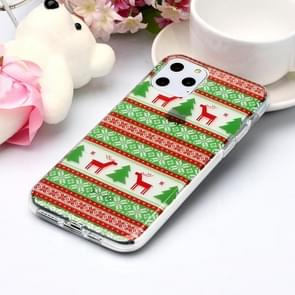 For iPhone 11 Pro Max Coloured Drawing Pattern IMD Workmanship Soft TPU Protective Case(Tribal Elk)