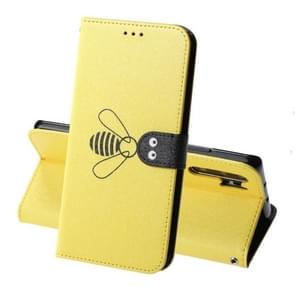 For Huawei P30 Silk Texture Bee Pattern Horizontal Flip Leather Case with Holder & Card slots & Wallet & Photo Frame(Yellow)