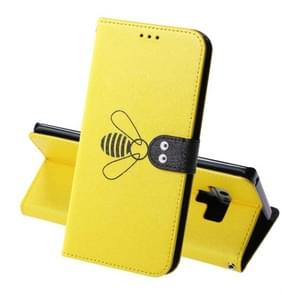For Galaxy Note9 Silk Texture Bee Pattern Horizontal Flip Leather Case with Holder & Card slots & Wallet & Photo Frame(Yellow)