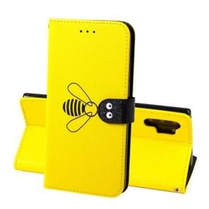 For Galaxy Note10+ Silk Texture Bee Pattern Horizontal Flip Leather Case with Holder & Card slots & Wallet & Photo Frame(Yellow)