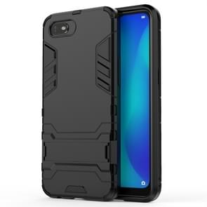 For OPPO A1k / Realme C2 Shockproof PC + TPU Protective Case with Invisible Holder(Black)