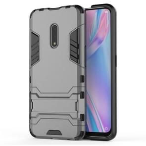 For OPPO K3 Shockproof PC + TPU Protective Case with Invisible Holder(Grey)