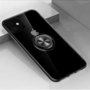 Voor iPhone 11 ultradunne TPU beschermhoes met 360 graden rotatie houder (zwart)