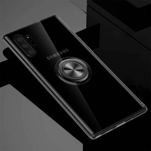 For Galaxy Note 10+ Ultra-thin TPU Protective Case with 360 Degree Rotation Holder(Black)