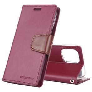 Voor iPhone XI 2019 kwik GOOSPERY SONATA DIARY horizontale Flip lederen draagtas met houder & kaartsleuven & portemonnee (wijn)
