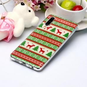 For Huawei P30 Coloured Drawing Pattern IMD Workmanship Soft TPU Protective Case(Tribal Elk)