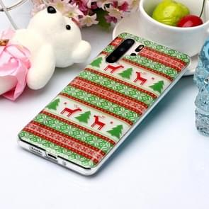 For Huawei P30 Pro Coloured Drawing Pattern IMD Workmanship Soft TPU Protective Case(Tribal Elk)
