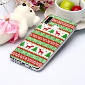 For Huawei P30 Lite Coloured Drawing Pattern IMD Workmanship Soft TPU Protective Case(Tribal Elk)