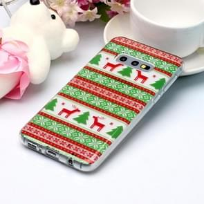 For Galaxy S10e Coloured Drawing Pattern IMD Workmanship Soft TPU Protective Case(Tribal Elk)