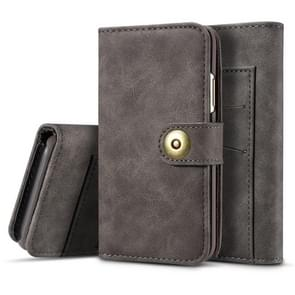 For Galaxy Note10 Retro Magnetic Detachable Horizontal Flip Leather Case, with Card Slots & Wallet & Photo Frame(Grey)