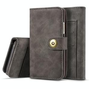 For Galaxy Note10+ Retro Magnetic Detachable Horizontal Flip Leather Case, with Card Slots & Wallet & Photo Frame(Grey)