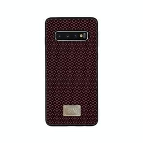 For Galaxy S10+ RAIGOR INVERSE PARKER Geometric Texture Pattern Protective Case(Red)