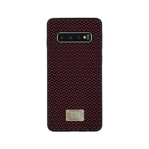 For Galaxy S10e RAIGOR INVERSE PARKER Geometric Texture Pattern Protective Case(Red)