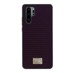 For Huawei P30 RAIGOR INVERSE PARKER Geometric Texture Pattern Protective Case(Red)