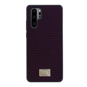 For Huawei P30 Pro RAIGOR INVERSE PARKER Geometric Texture Pattern Protective Case(Red)