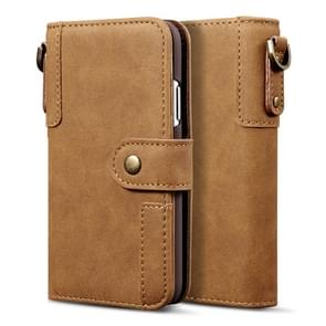 For iPhone 11 Cowhide Texture Horizontal Flip Leather Case, with Holder & Card Slots & Wallet & Lanyard(Brown)