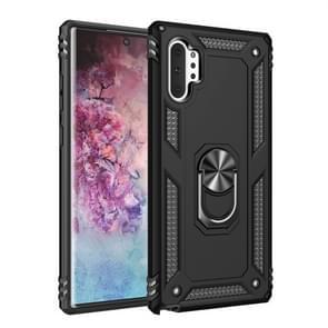 Voor Galaxy Note 10 + Armor schokbestendig TPU + PC beschermhoes met 360 graden rotatie houder (zwart)