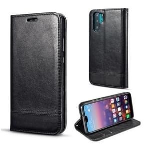 For Galaxy Note10+ Double-sided Absorption Splicing Horizontal Flip Leather Case, with Holder & Card Slots & Lanyard(Black)