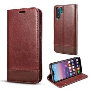 For Galaxy Note10+ Double-sided Absorption Splicing Horizontal Flip Leather Case, with Holder & Card Slots & Lanyard(Brown)