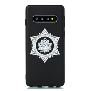 For Galaxy S10+ Shockproof Soft TPU Protective Case(Hexagram Flower Pattern)