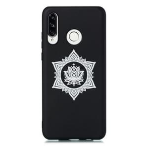 For Huawei P30 Lite Shockproof Soft TPU Protective Case(Hexagram Flower Pattern)