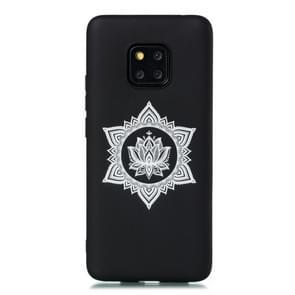 Voor Huawei mate 20 Pro shock proof Soft TPU beschermende case (hexagram bloem patroon)