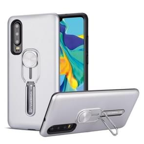 For Huawei P30 Shockproof TPU + PC Protective Case with Holder(Silver)