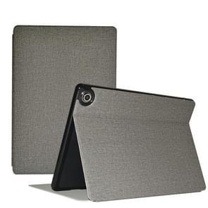 Voor Teclast M18 Business Style horizontale flip pu lederen beschermhoes met houder(Grijs)