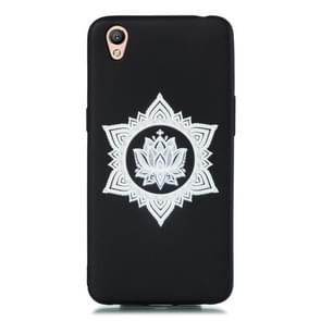 For OPPO A37 Shockproof Soft TPU Protective Case(Hexagram Flower Pattern)