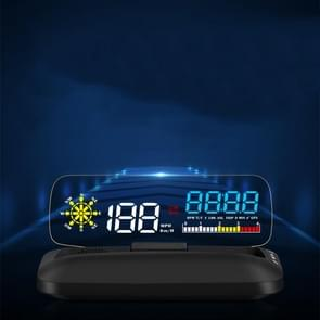 C5 OBD2 + GPS-modus Auto HUD Head-up Display Water Temperatuur / Voertuig Snelheid / Spanning