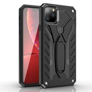 For iPhone 11 Pro Shockproof TPU + PC Protective Case with Holder(Black)