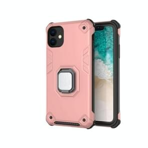 For iPhone 11 Pro Ultra-Thin 2-in-1 TPU+PC Transcendental Armor Vehicle-Mounted Support Case(Rose Gold)