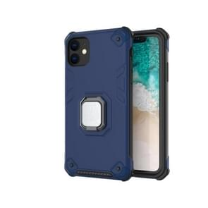 For iPhone 11 Pro Max Ultra-Thin 2-in-1 TPU+PC Transcendental Armor Vehicle-Mounted Support Case(Blue)