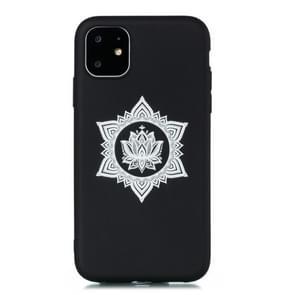 Voor iPhone 11 Pro Max schokbestendige Soft TPU beschermhoes (hexagram bloem patroon)