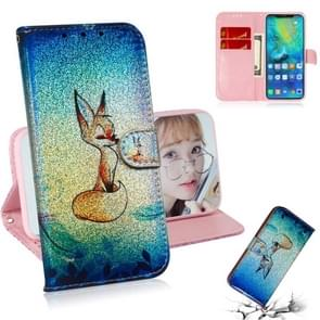 For Huawei Mate 20 Pro Colored Drawing Pattern Colorful Magnetic Buckle Horizontal Flip PU Leather Case with Holder & Card Slots & Wallet & Lanyard(Fox)