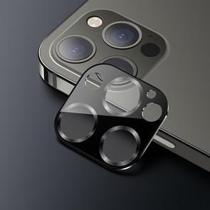 USAMS US-BH704 Een-stuk Metalen Frame Camera Camera Lens Tempered Glass Film Voor iPhone 12 Pro (Grafiet)
