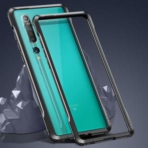 Voor Xiaomi Mi 10 5G Schokbestendig Ultra-dun metalen beschermframe(Zwart)